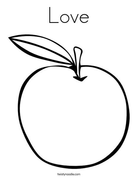 love coloring page apple coloring pages love coloring pages apple coloring
