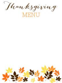 thanksgiving menu template word images