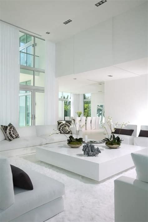 All White Home Interiors by Miami Home Pictures Highlighting Interior Design In White