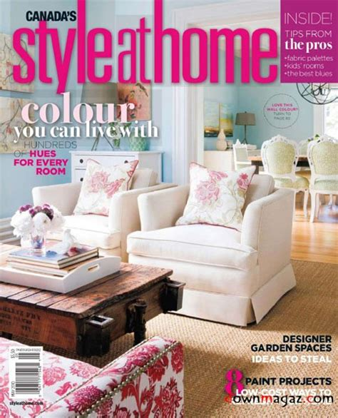 home decor magazines list style at home magazine may 2010 187 pdf magazines