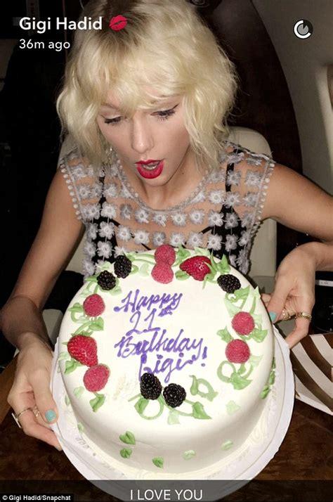 Taylor Swift Celeb Es Gigi Hadids  Ee  Birthday Ee   Atachella