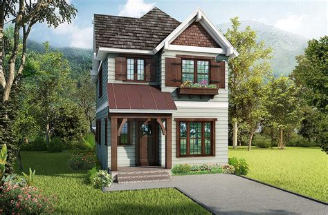 cleverly designed narrow lot house plan lv architectural designs house plans