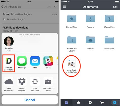 How To Save Email Attachments To Iphone And Ipad