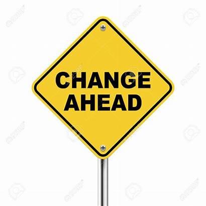 Change Clipart Ahead Changes Clip Plan Roadsign