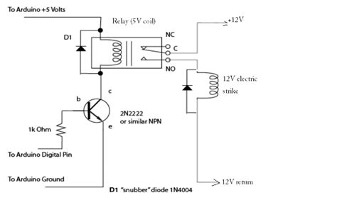 electric strike with arduino circuitry electrical