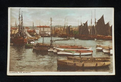 Ebay Boats For Sale Devon by 1930s The Barbican Fishing Boats Plymouth Uk Devon Co
