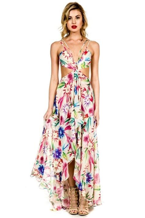 electric feel tropical maxi dress products pinterest