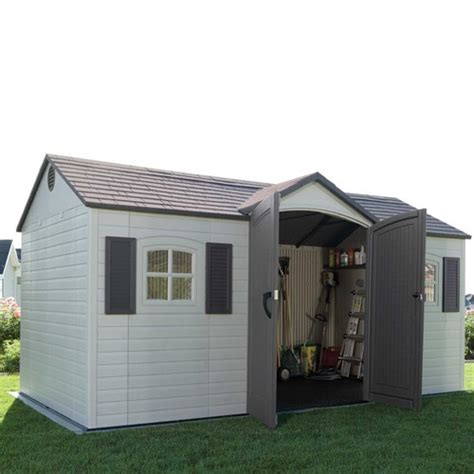 lifetime 15x8 shed uk lifetime 15x8 single entrance plastic shed plastic