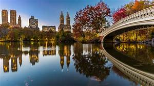 Bow, Bridge, Crossing, Over, The, Lake, Central, Park, New, York, United, States, 4k, Hd, Wallpapers, Images