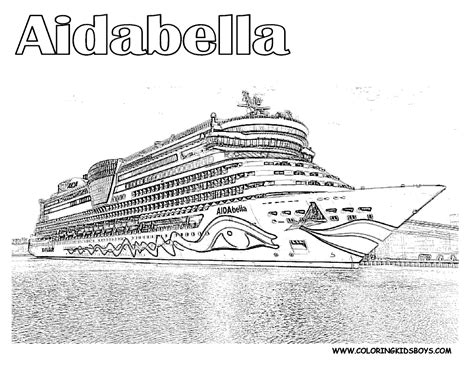 Cruise Ship Coloring Page 123