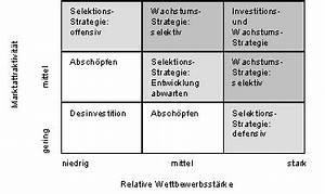 Marktwachstum Berechnen : portfolio analyse neun felder matrix ~ Themetempest.com Abrechnung
