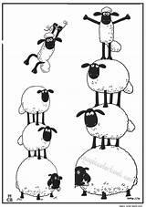 Sheep Shaun Coloring Printable Cartoon Mouton Printables Schaf Das Mewarnai Druckvorlagen Dessin Carneirinhos Ausmalbilder Pecora Schafe Tree Adult Books Gambar sketch template