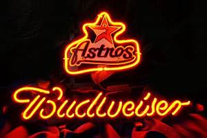 Wiki Neon Sign Blog MLB HOUSTON ASTROS BASEBALL BUDWEISER
