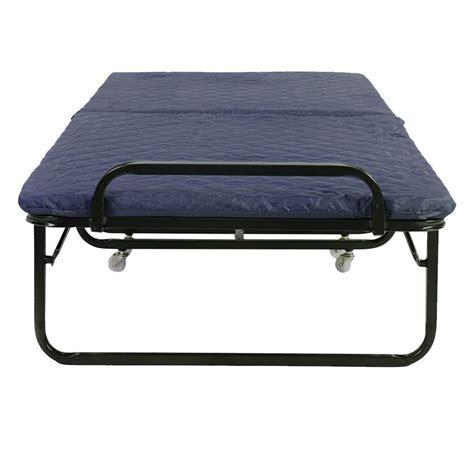 cot with mattress 3 colors folding bed foam mattress roll away guest