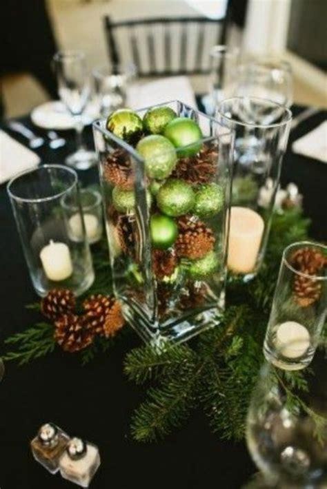 mariage de noel idees pour  centre de table