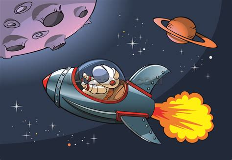 Kids Spaceship Wallpaper Mural