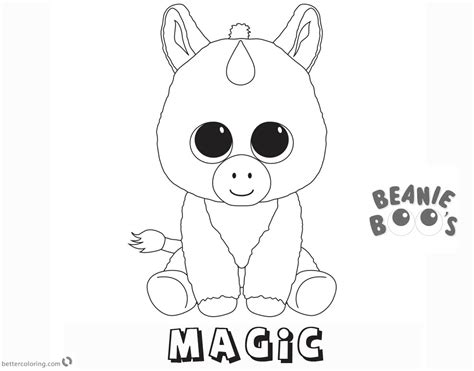 Kleurplaten Ty Beanie Boos by Beanie Boo Coloring Pages Unicorn Magic Free Printable