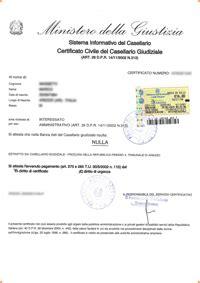 certificato civile casellario giudiziale evisura