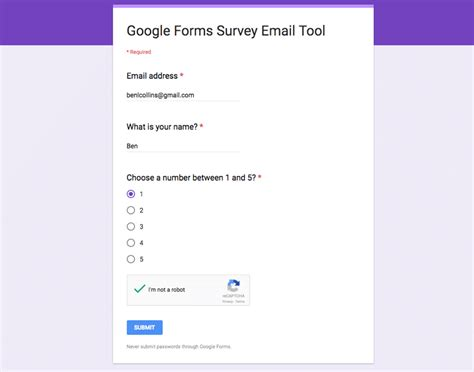 reply to google forms survey respondents direct from