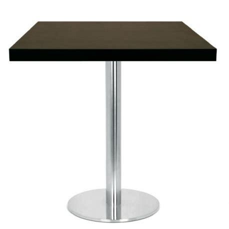 table 60x60 cuisine table restaurant 60x60 cm plateau bois et pied inox brossé