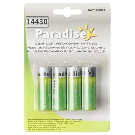 replacement batteries for solar lights paradise ba25400lt4 400 mah solar light replacement