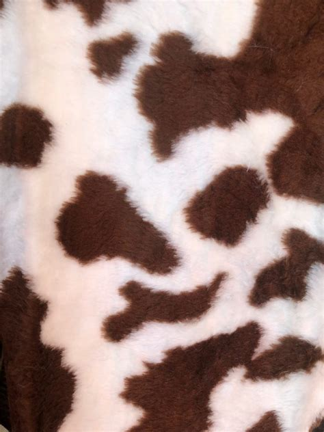 Cow Print Brown Fur Fabric Direct Online