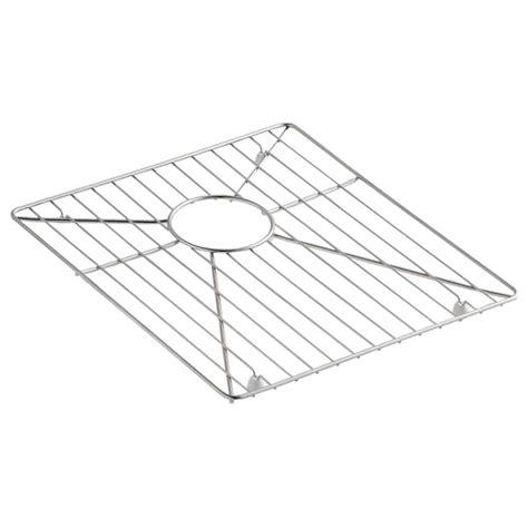 stainless steel sink rack kohler vault stainless steel bottom sink basin rack k 6641