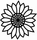 Sunflower Coloring Pages Printable Flower Mandala Silhouette Simple Line Summer Visit sketch template