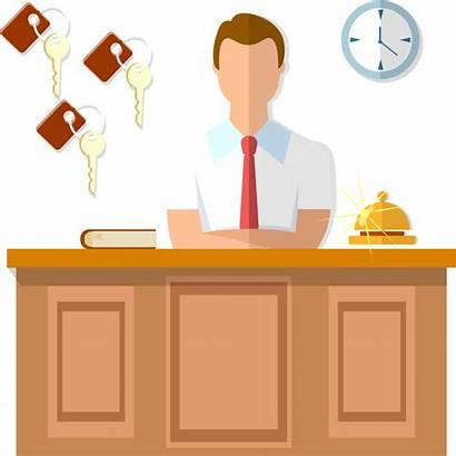 Clipart Reception Management System Hotels Office Clean