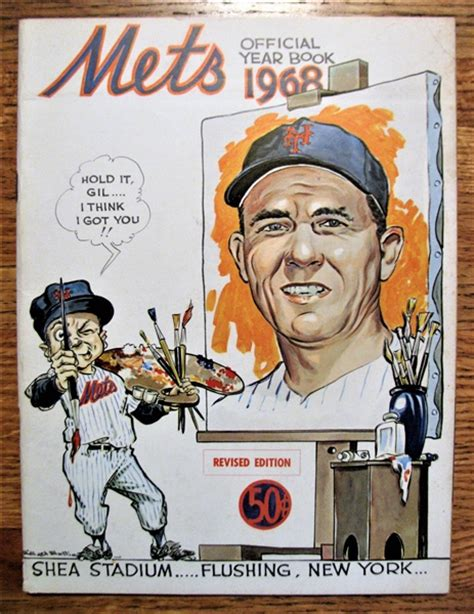 lot detail   york mets yearbook hodges cover
