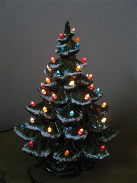 vintage large 19 quot ceramic lighted christmas tree 1970