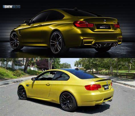 Bmw M3 M4 by Photo Comparison Bmw M4 Coupe Vs Bmw M3 Coupe E92