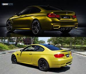 Bmw E92 M3 : photo comparison bmw m4 coupe vs bmw m3 coupe e92 ~ Carolinahurricanesstore.com Idées de Décoration