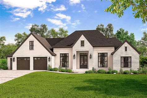 Exclusive 4-bed French Country Home Plan With Optional