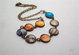 Planet Necklace Solar System Necklace Space Necklace