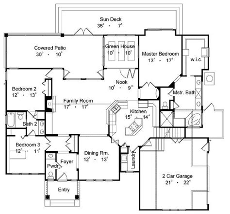 best floor plans country one house plan