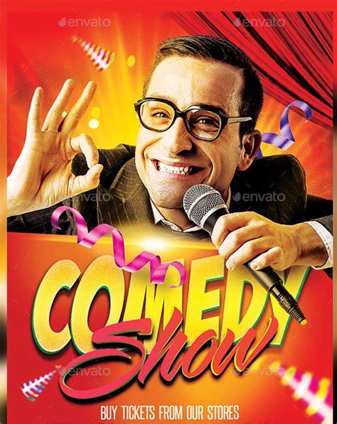comedy show flyer template    vector eps psd