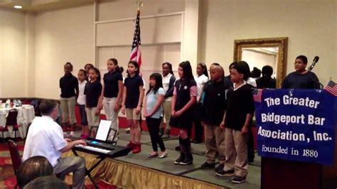the hallen school hallen school chorus at the gbba day ceremony performing god bless america