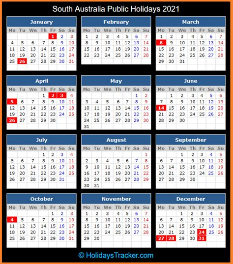 Public holidays 2021 in india shed light on the existing multicultural society and reveal the number of holidays observed countrywide by people of different religions, sects and origins. 2021 South Australian Calendar