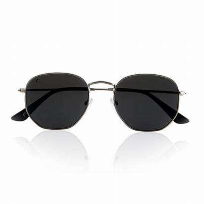 Sunglasses Hexagon Metal Lenses Frame Polarized Pink
