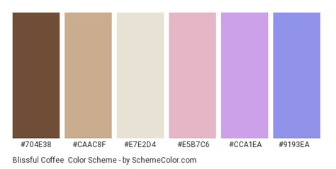 You can copy hex codes and even download a.png version of each palette. Blissful Coffee Color Scheme » Blue » SchemeColor.com