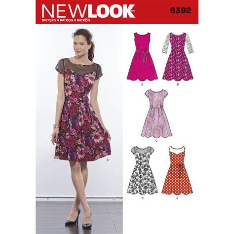 pattern for misses 39 dresses with contrast fabric options simplicity