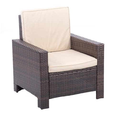 rattan settee 4pc pe rattan wicker sofa set cushion outdoor patio sofa