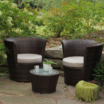 sanibel all weather wicker balcony set for the home