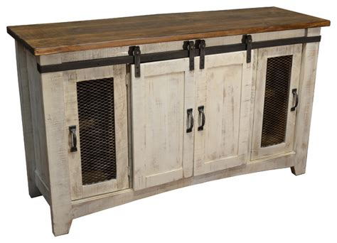 uttermost console tables bayshore tv stand white 60 quot rustic console tables