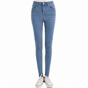 New Fashion Jeans Women Pencil Pants High Waist Jeans Sexy ...