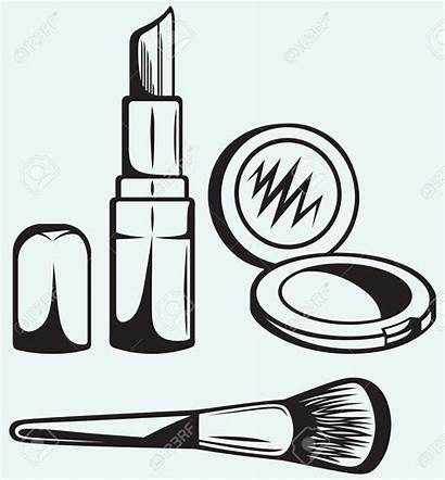 Makeup Clipart Coloring Pages Cosmetics Clip Drawing