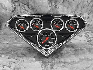 55 56 57 58 59 Chevy Truck Anodized Black Gauge Panel Dash