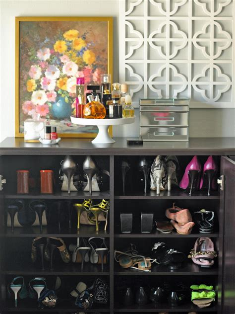 Storing Shoes In Closet by Broom And Utility Closet Organization Hgtv