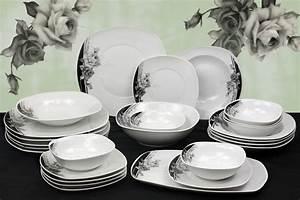 Teller Set Günstig : porzellan 76tlg tafelservice teller set geschirr 12 personen essservice tafelset ~ Orissabook.com Haus und Dekorationen